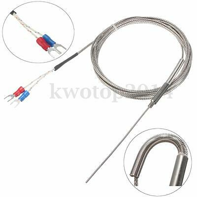 K Type 1.5mm x 2m Thermocouple Temperature Stainless Steel Sensor Testing Probe