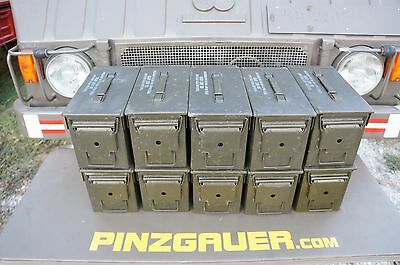 AMMO Can Box US ARMY Military  M2A1  Ammunition Metal Box  50 Cal  Pack of 10
