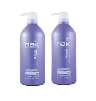 Nak Blonde Shampoo and Conditioner 1000ml Duo Pack 1 Litre