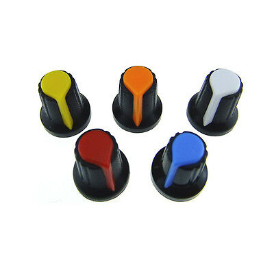 10 Pcs Plastic Knob Cap for Rotary Potentiometer Hole Dia 6mm DR021