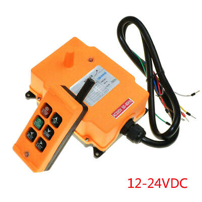 12-24VDC 6 Channels 1 Speed Hoist Crane Radio Remote  Control System HS-6