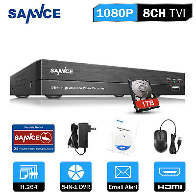 SANNCE 5in1 8CH 1080P DVR CCTV Video Recorder HDMI P2P for Home Security System