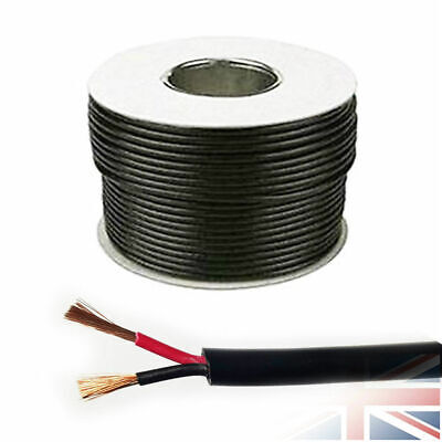 16.5 AMP 12V 1.0mm ROUND Wall 2 Twin Core DC Power Cable Wire Car Auto 10 Meters