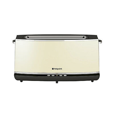 Hotpoint  TT 12E AC0 UK - 1 Long Slice Digital Control Toaster 1000 W - Cream