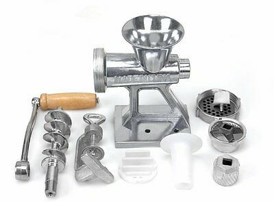 Meat Grinder Mincer Stuffer Hand Operated Sausage Filler Sauce Maker Machine