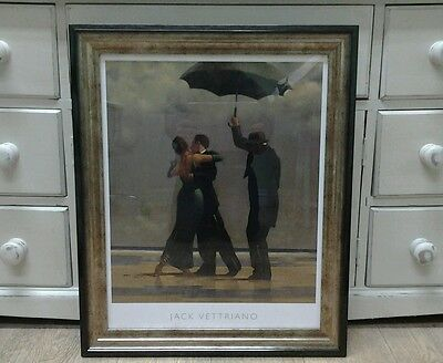 Dancer In Emerald by Jack Vettriano Large Deluxe Framed Art Print Romantic