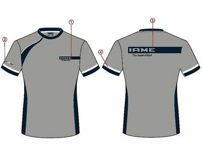 Iame Blue / Grey Racing Factory T-Shirt All Sizes UK KART STORE