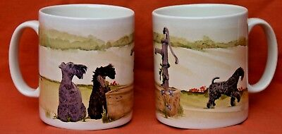 KERRY BLUE TERRIER DOG Mug Off to the Dog Show watercolour print SANDRA COEN