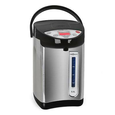Electric Water Kettle By OneConcept Portable Thermos Pot 5 Litre Black & Silver
