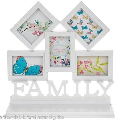 Matt White Family Collage Frame 5 Picture  new boxed shabby chic vintage