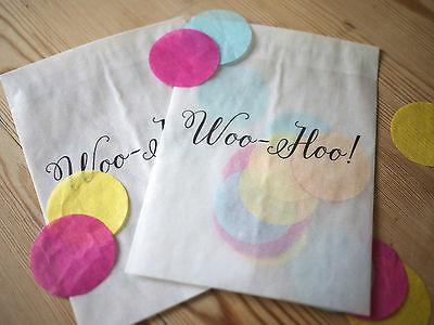 10 x Wedding confetti bags Personalised Wedding favours confetti bag //party 6004