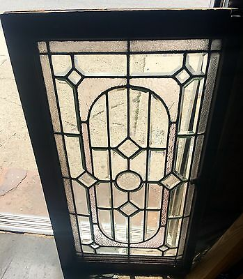 Super Rare All Heavy Beveled Geometric Diamonds & Circle 1900's Window