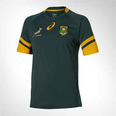 New 2016 South Africa Springboks Rugby Jersey Shirt Official Asics Home