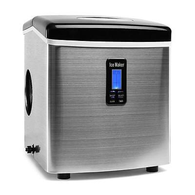 Stainless Steel Ice Cube Maker Machine By Klarstein 150 W Counter Top Bar 3.3 L
