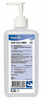 Diversey Soft Care MED H5 Alcohol Hand Rub With Convenient Pump Dispenser- 500ml