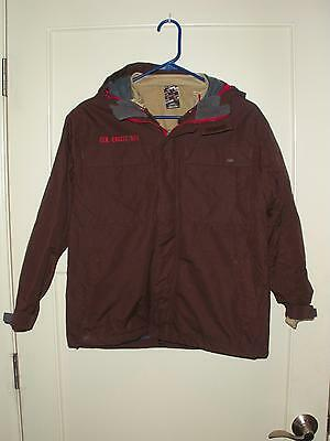 Boy's 686 Brown 3 in 1 Ski Snowboard Jacket & Zip Out Liner Size: X-Large EUC