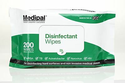 Medipal Disinfectant Wipes Pack of 200