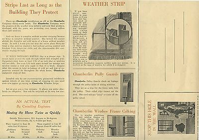 Old 1930's Chamberlin Metal Weather Strip Co Kingsville ON Brochure