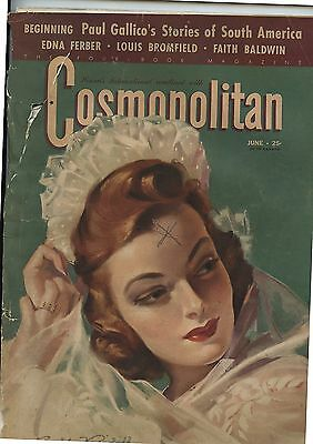Old June 1941 Hearst's International Cosmopolitan Magazine