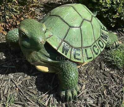 Giant Tortoise Turtle Welcome Greeter Garden Lawn Patio Statue Figurine Decor