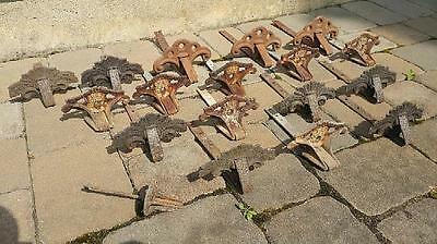 18 Antique Cast Iron Snow Catchers 3 Different Variations Slatington-Peter Bros