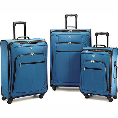 American Tourister Pop Plus 3 Piece Nested Spinner Luggage Set (Moroccan Blue) -