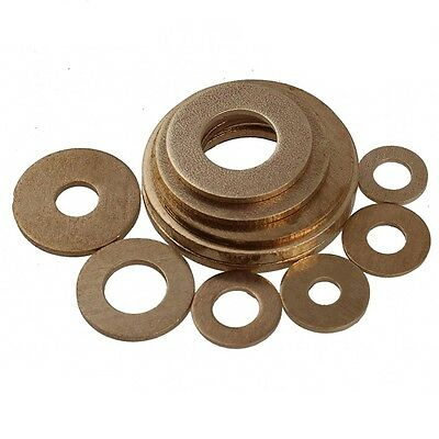 Qty 25 - M6*12*1mm Solid Brass Flat Washers to Fit for Bolts & Screws