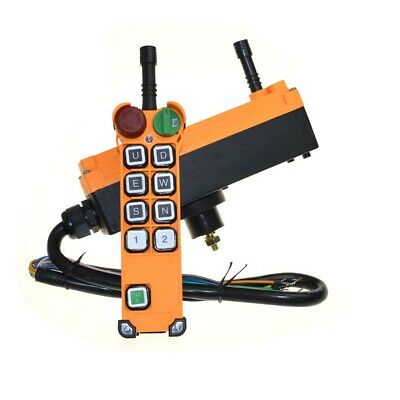 12-24vdc 8 Channel 1 Speed  Hoist Crane Truck Radio Remote Control with E-Stop