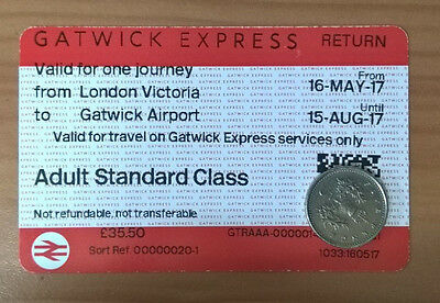 Gatwick Express one way ticket London Victoria to Gatwick Airport til 15/08/2017