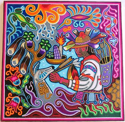 "23.5"" Mexican Huichol Yarn painting 60-022"