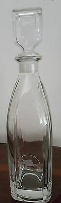 Quality Mobil Oil Etched Glass Decanter