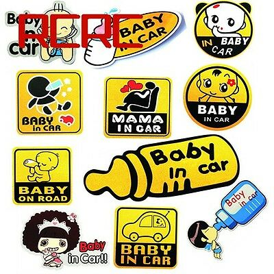 Sticker BABY ON BOARD CHILD SAFETY CAR VEHICLE SIGNS CHILD ON BOARD