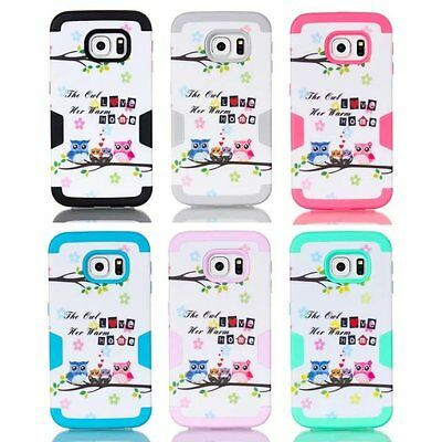 Love Owl Shockproof Rugged Light Blue Hard Cover Case For Samsung Galaxy S7 Edge