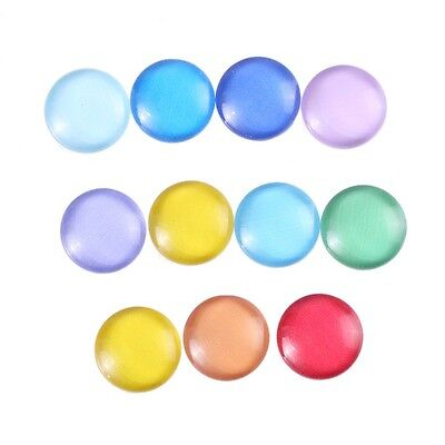 12mm Mixed Colorful Round Glass Cabochons Embellishment Cameo Flatback 10pcs