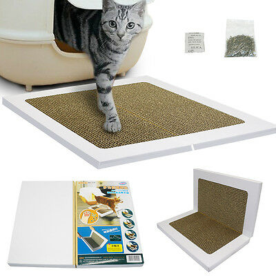 Foldable Cat Kitten Scratch Mat Claws Clean Scratcher Board Kitty Toy Recyclable