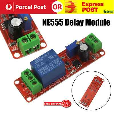 12V Delay Timer NE555 Monostable Switch Relay Module Adjustable Arduino AU