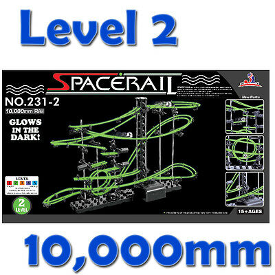 DIY Level 2 Marble Run Glow in the Dark Space Rail Kids Educational Toy
