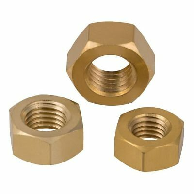 Solid Brass Full Hex Nuts For Bolts & Screws M2,2.5,3,4,5,6,8,10,12,16,20,24