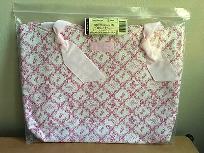 Longaberger Pink 2009 Horizon of Hope Tote