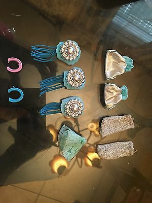 Barbie WESTERN Silver And Real Horse Shoe Decorations Lot