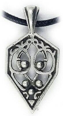 Celtic Irish Pendant Necklace Spiritual Rebirth Knot Silver w Adjustable Cord