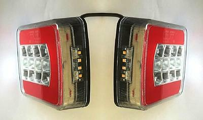 2x LED Rear Neon Tail lights 12V24V for Truck Lorry Trailer DAF Scania MAN Iveco