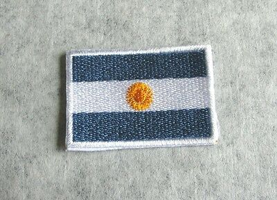 ARGENTINA NATIONAL COUNTRY FLAG 3x4.5cm EMBROIDERED SEWING IRON-ON PATCH