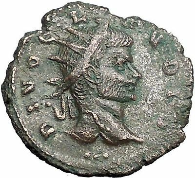 Claudius II Gothicus Possibly Unpublished Ancient Roman Coin Camp Gate  i55800