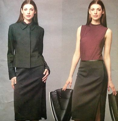 Vogue DKNY Pattern 2576 Jacket Skirt & Top Uncut Sz 8-12 Donna Karan 2001 Office