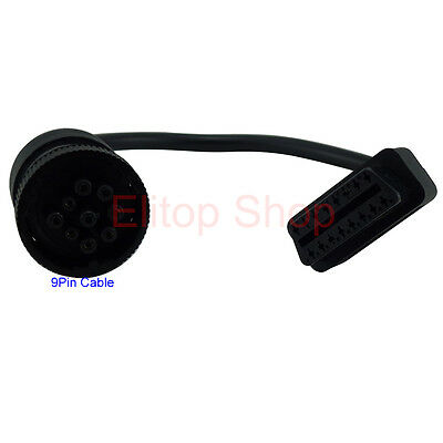 connectors adapters parts diagnostic equipment tools garage kenworth truck deutsch j1939 j1708 round 9pin to obd2 16pin adapter cable line
