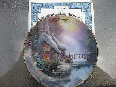 Plate Thomas Kinkade's Simpler Times Collection February