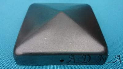 """30mm x 30mm to 100mm x 100mm4""""SQUARE STEEL/METAL FENCE/GATE POST CAP&20mm FLANGE"""
