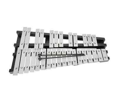 30 Metal Note Engraved Chromatic Glockenspiel G5 To C8 Range With Bag Instrument