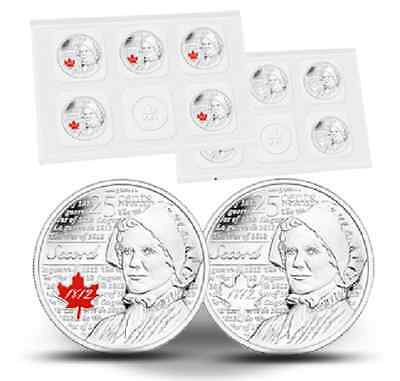 Canada 2013 Laura Secord 25-cent Circulation Coins 10-pack